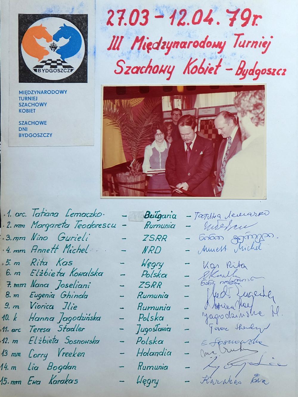 Szachowe Dni Bydgoszczy 1979